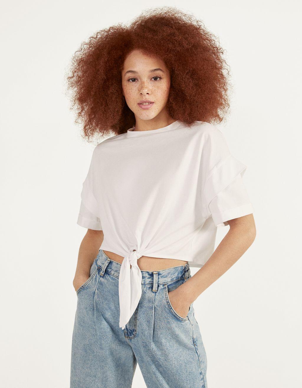 Megköthető rövid derekú póló