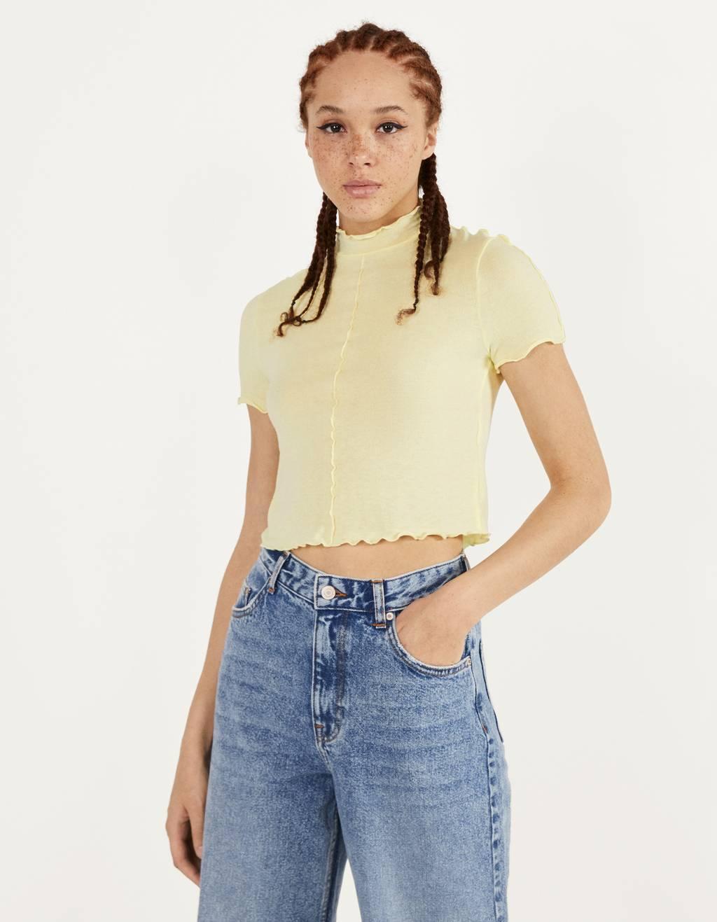 Curly short sleeve T-shirt