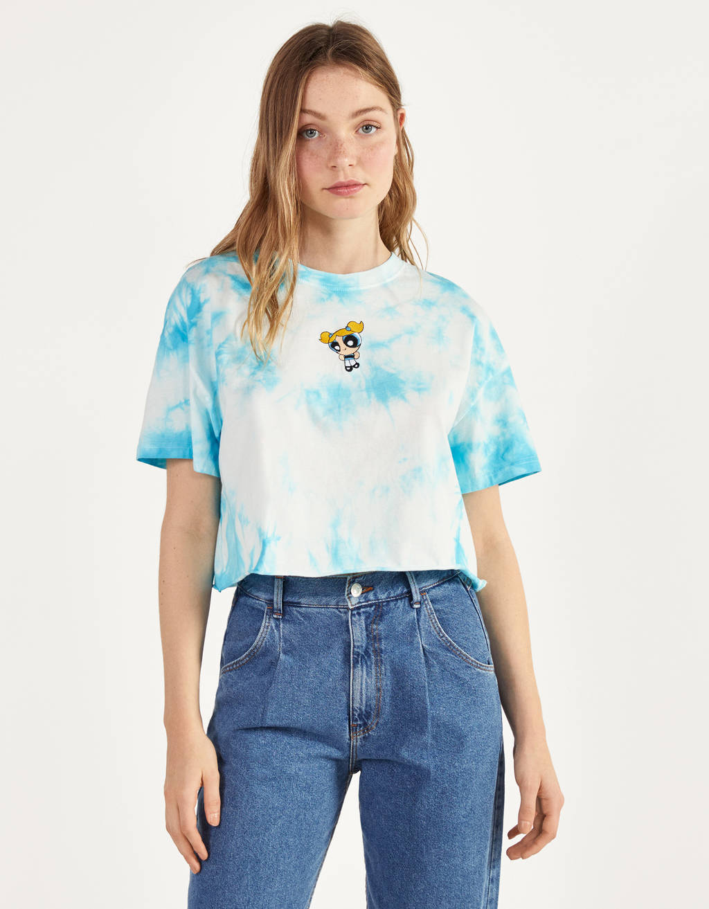 The Powerpuff Girls x Bershka majica s tie dye vzorcem