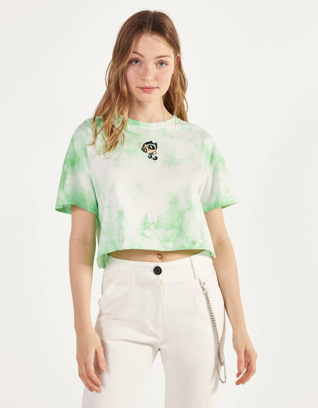 Tie-Dye-Shirt Powerpuff Girls x Bershka