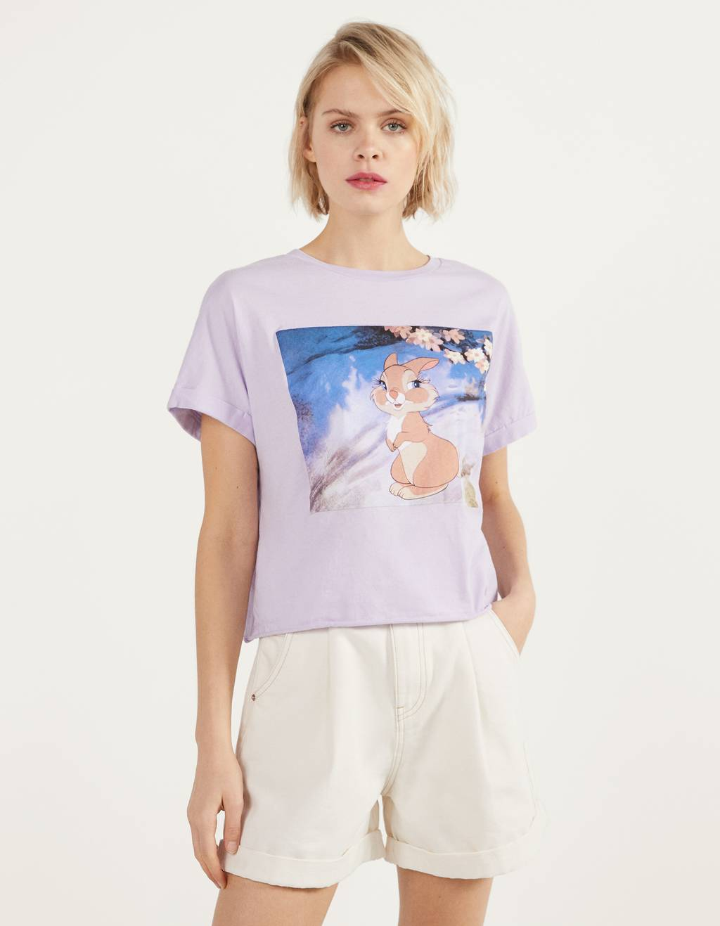 Stumpet T-shirt med Bambi