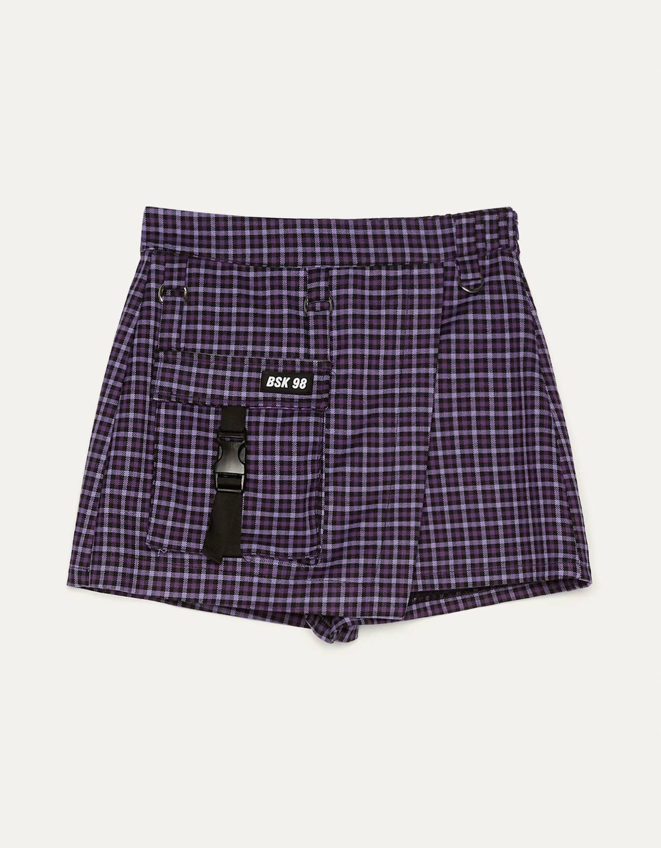 Базовая юбка-шорты Фиолетовый Bershka