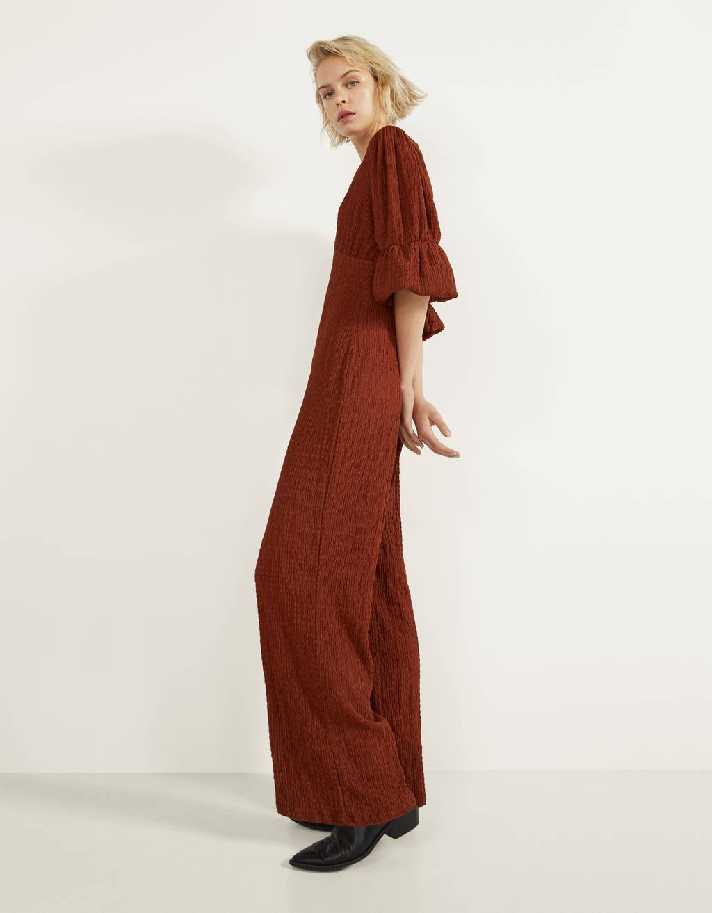 Textured jumpsuit