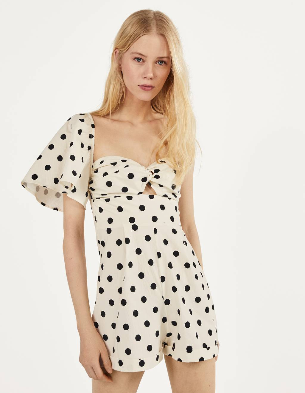 Polka dot playsuit