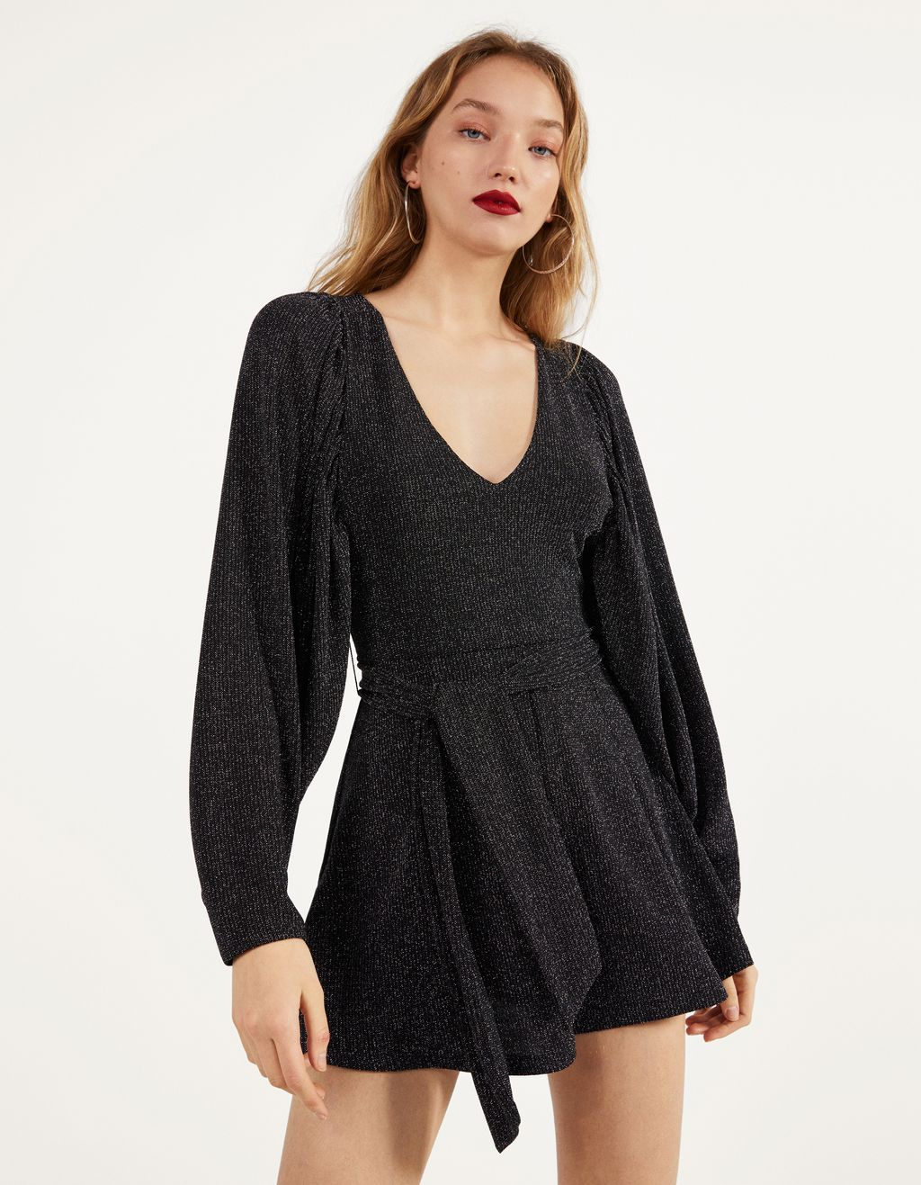 Playsuit med metallictråd