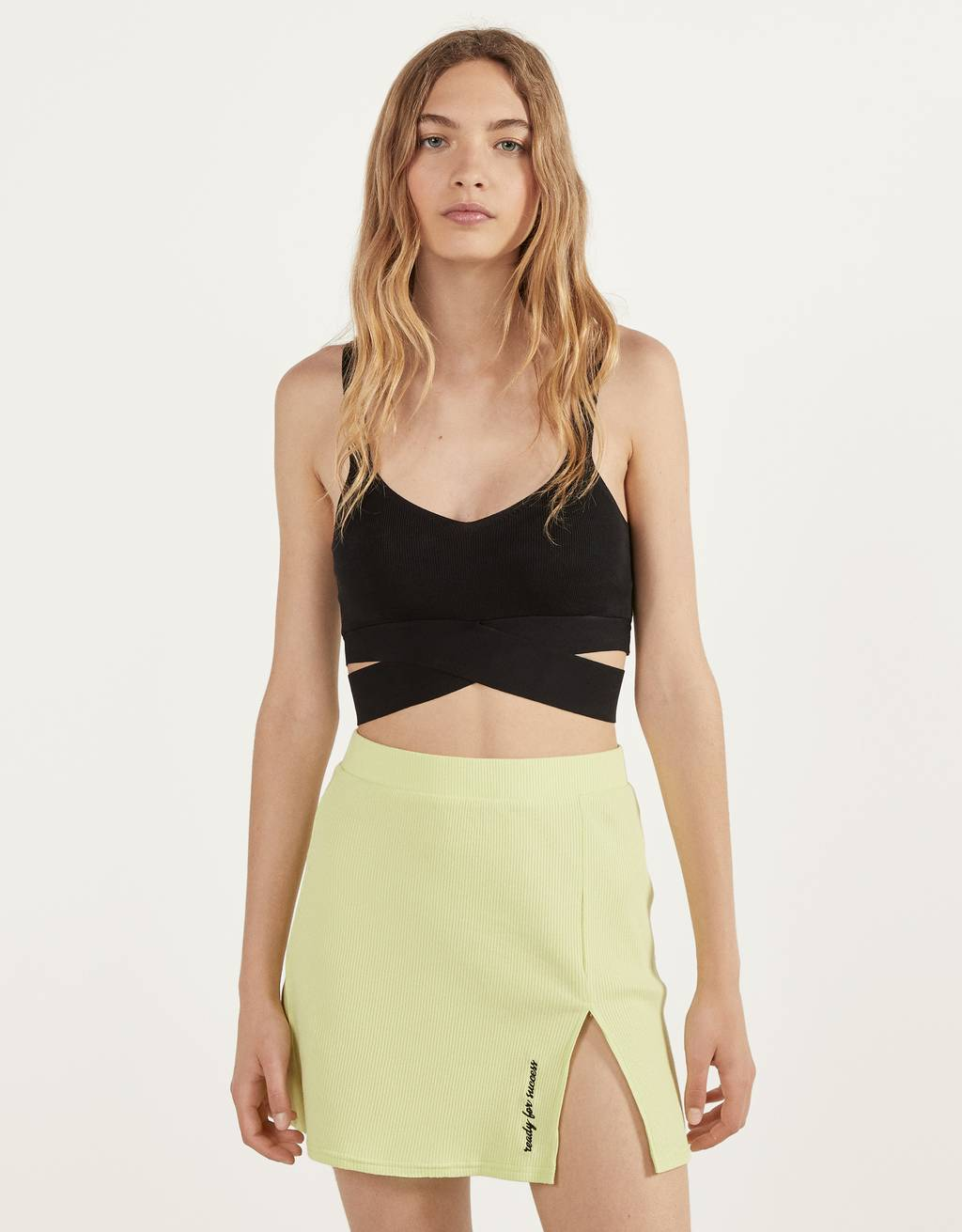 Crop top met cut-out