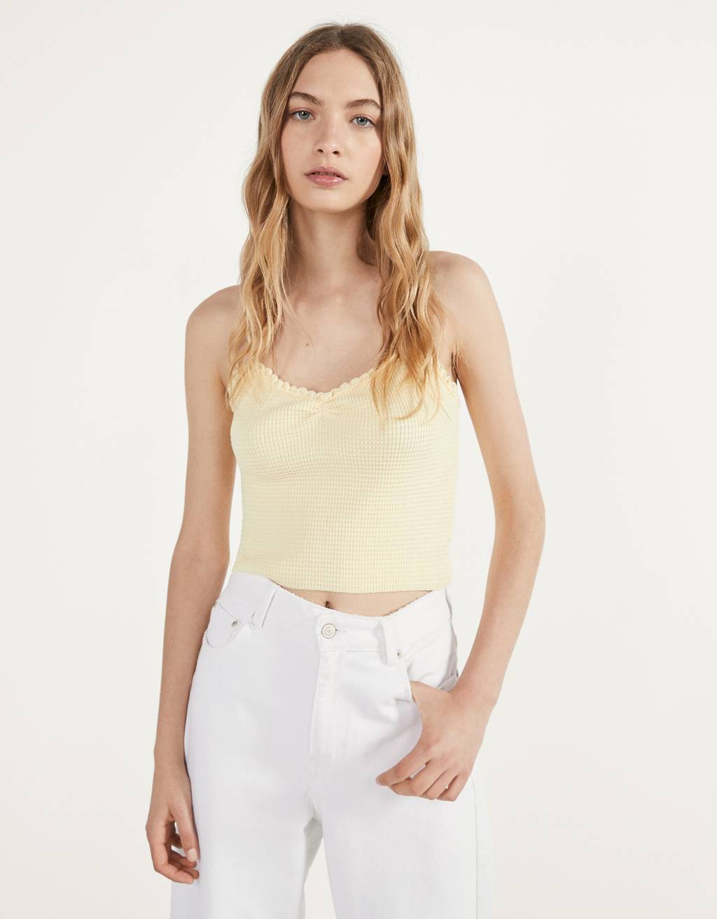 Gathered strappy top