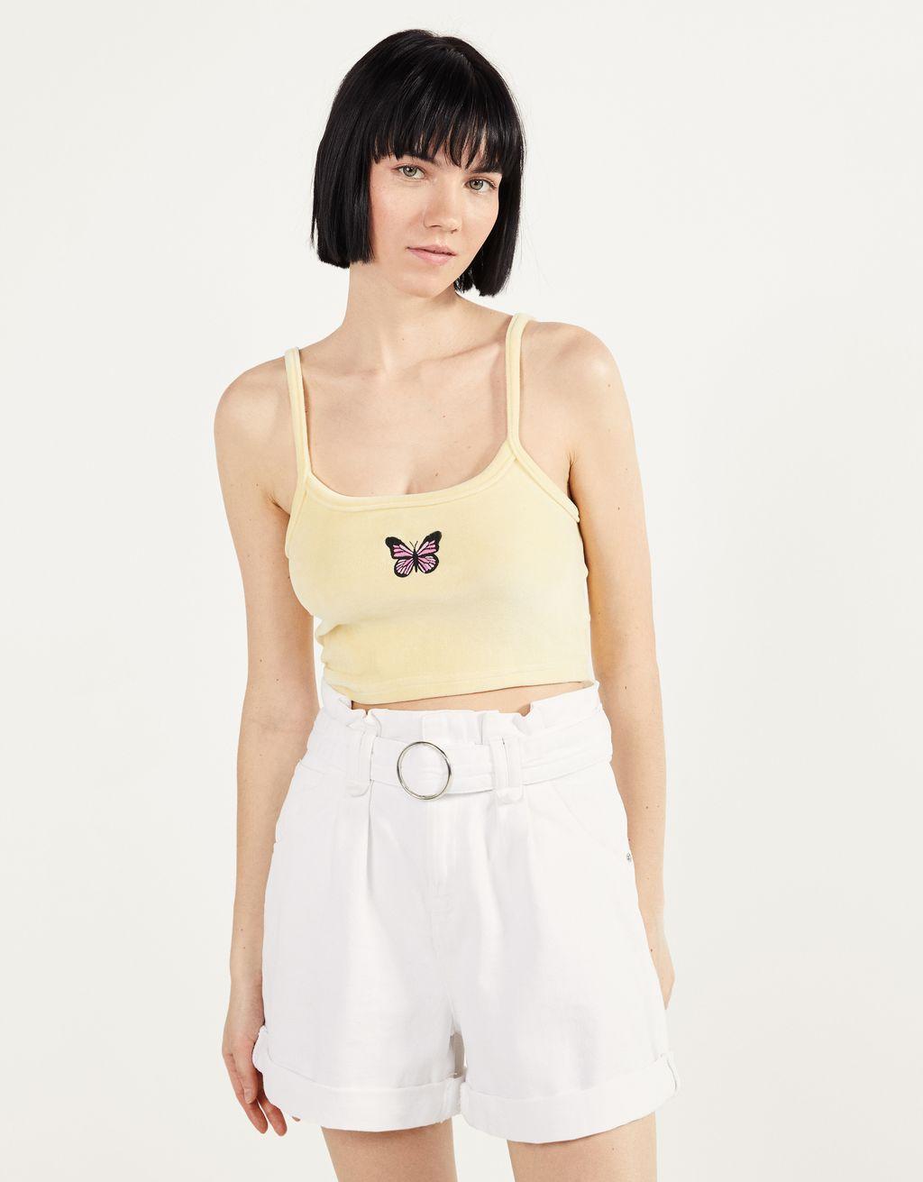 Velvet strappy top