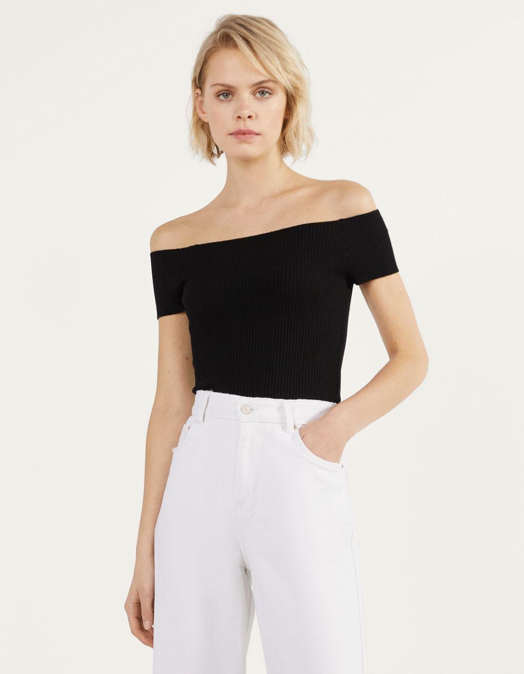 Bardot-nyakú póló