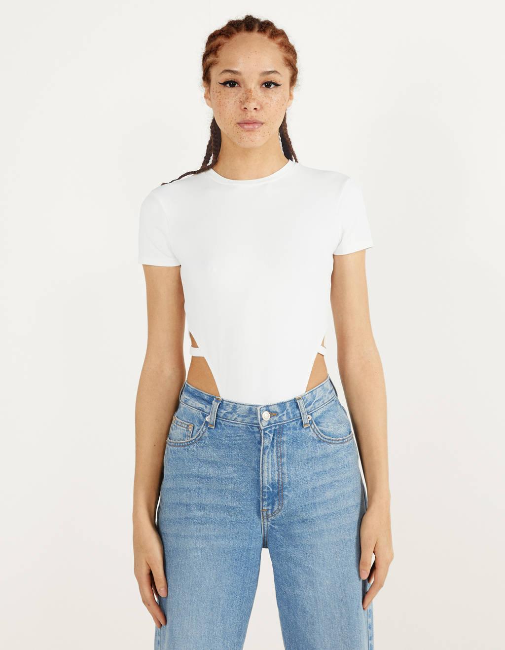 High waist bodysuit with slits