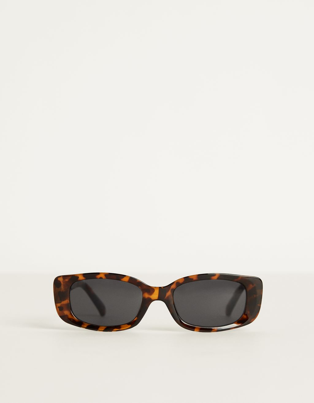 Tortoiseshell rectangular sunglasses