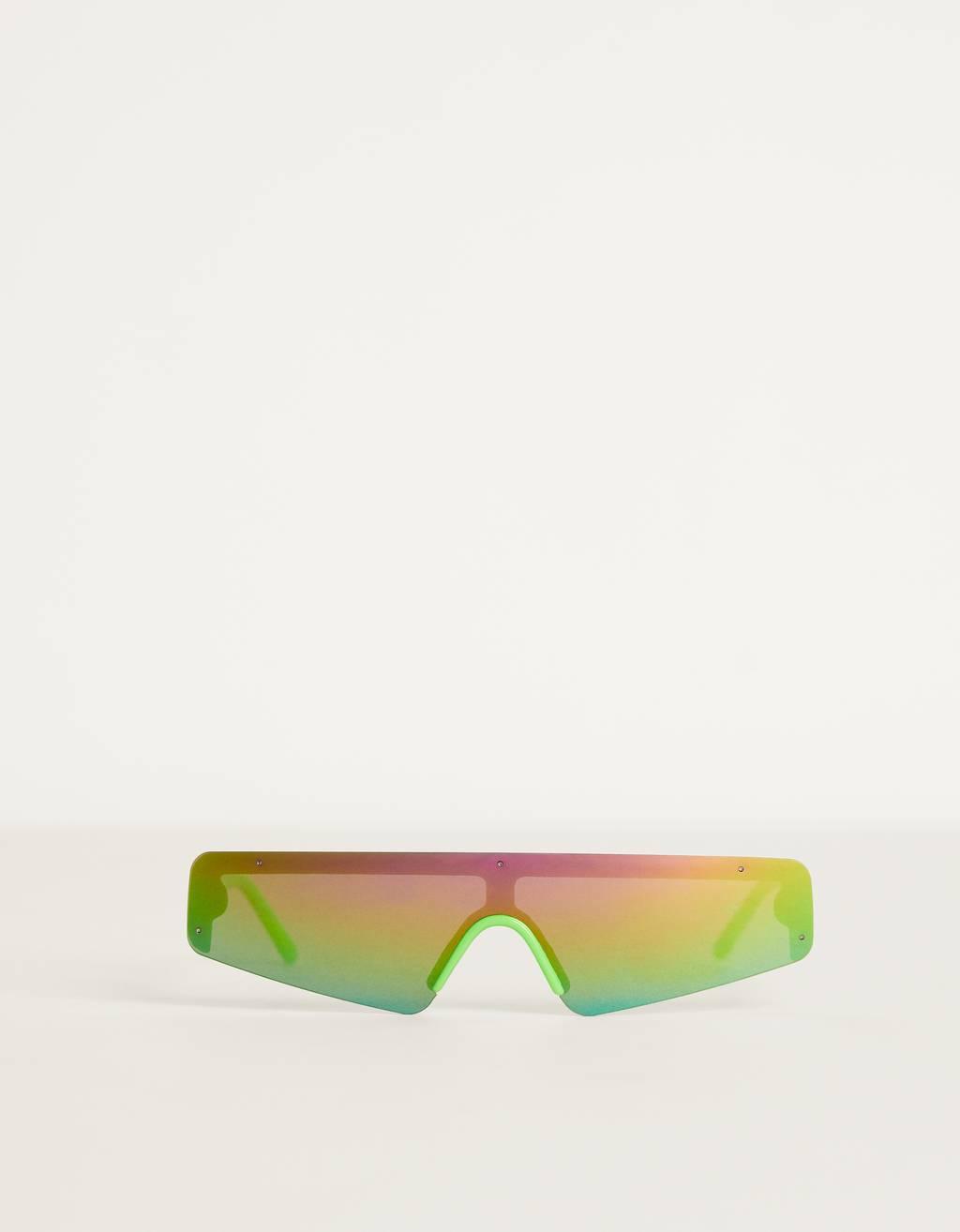 Neon shield sunglasses