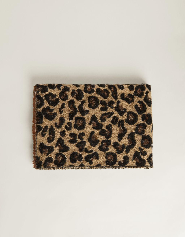 Fular cu imprimeu leopard