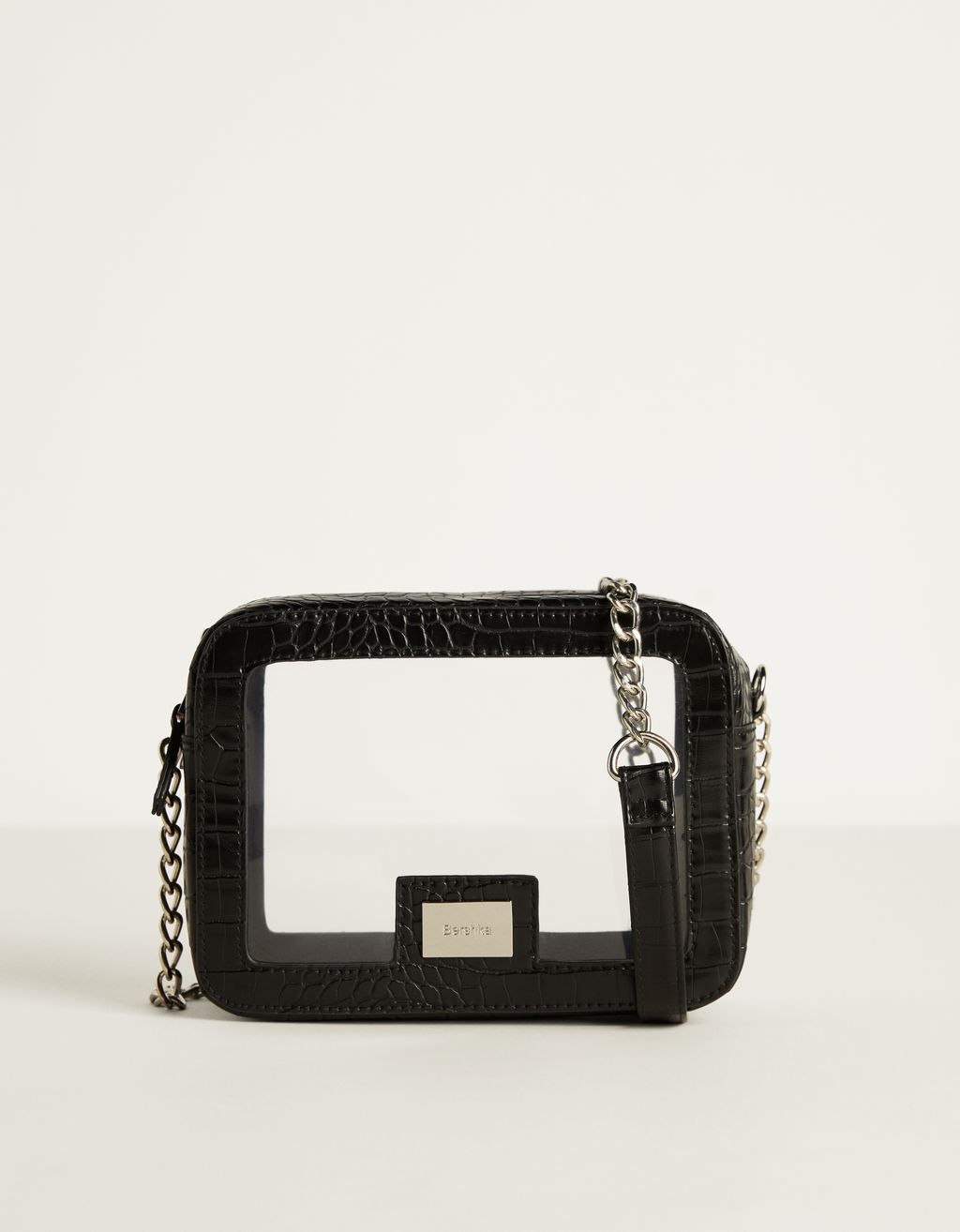 Clear handbag with chain