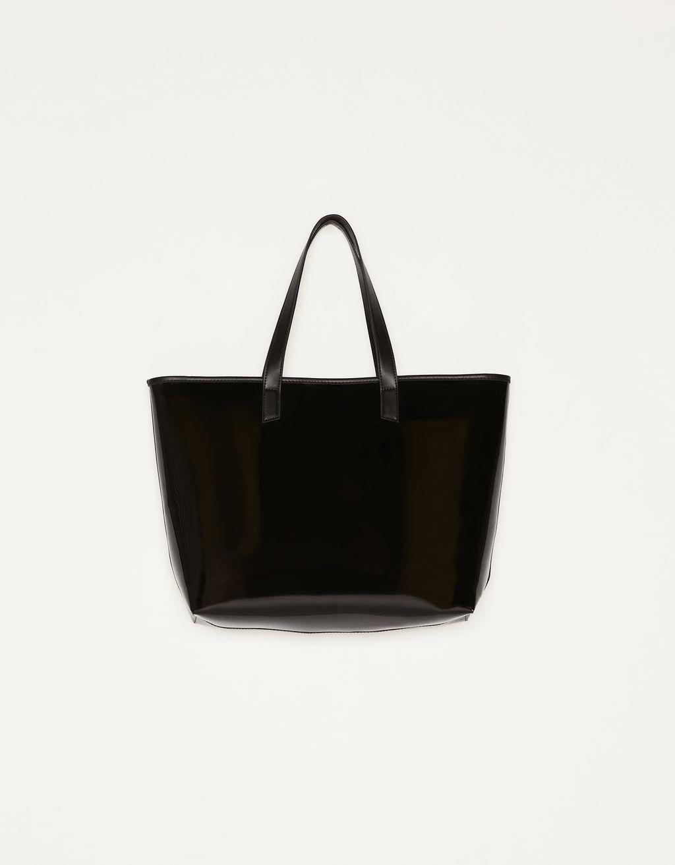 Semi-sheer tote bag