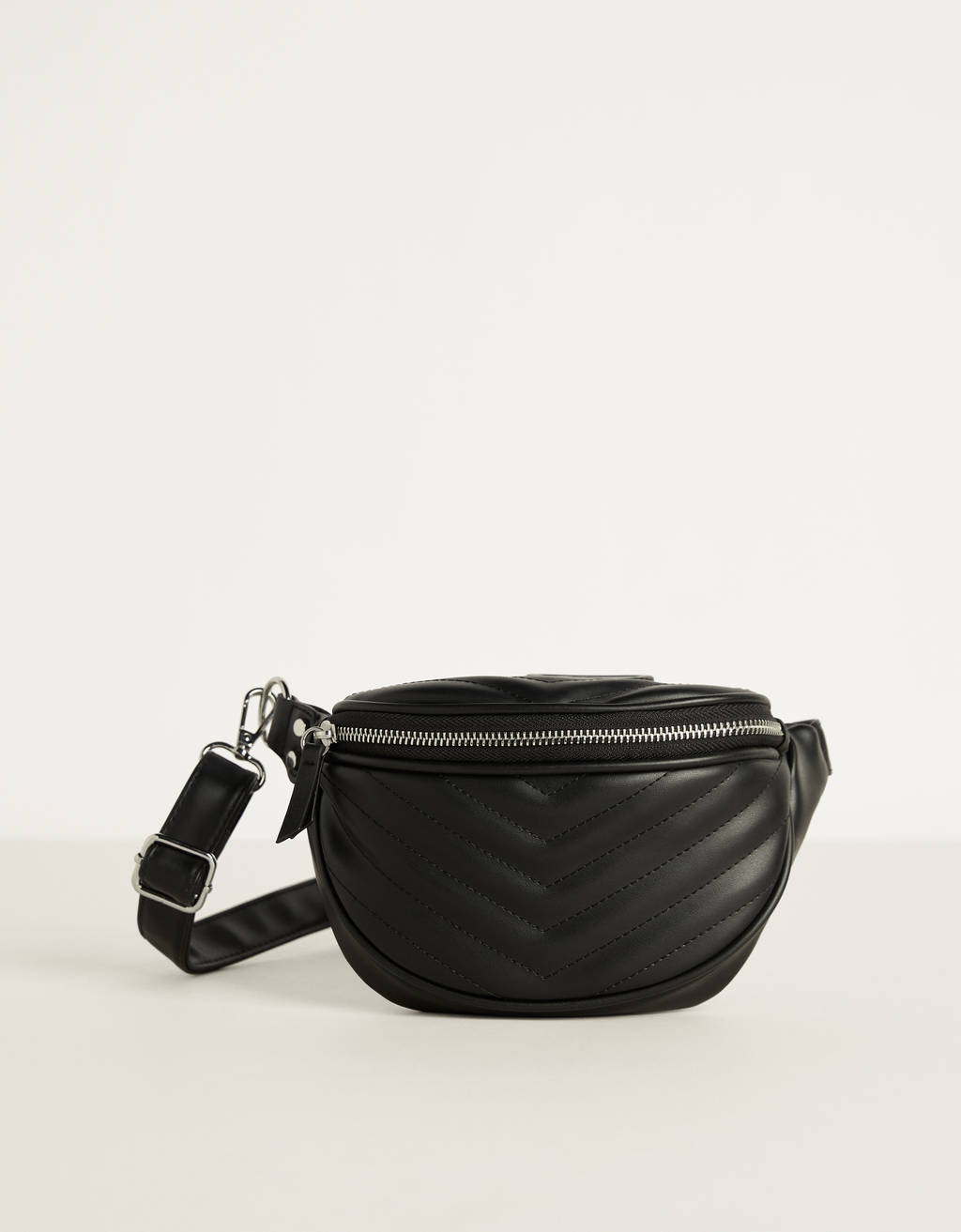 Faux leather pocket belt bag