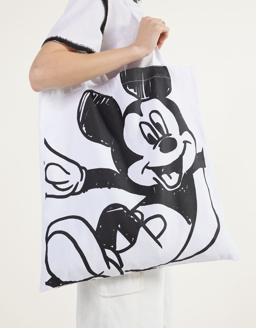 """Mickey gets arty"" totebag"