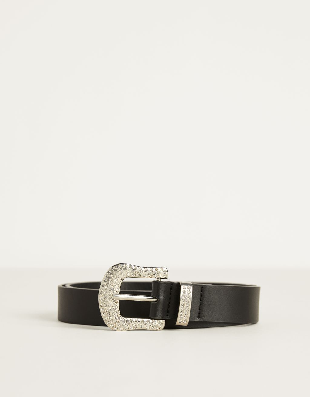 Belt with bejewelled buckle