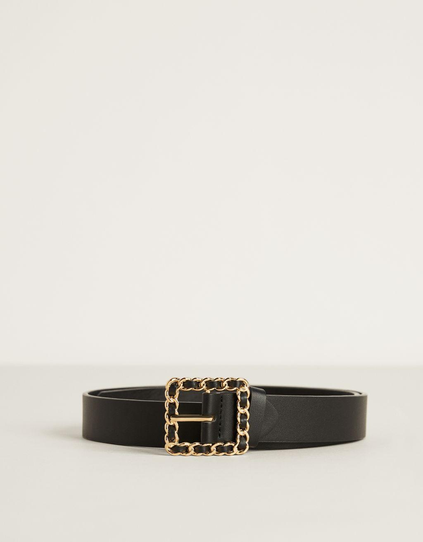 Cinturón con hebilla tipo cadena