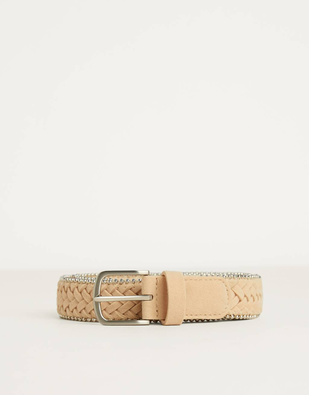 Faux suede belt