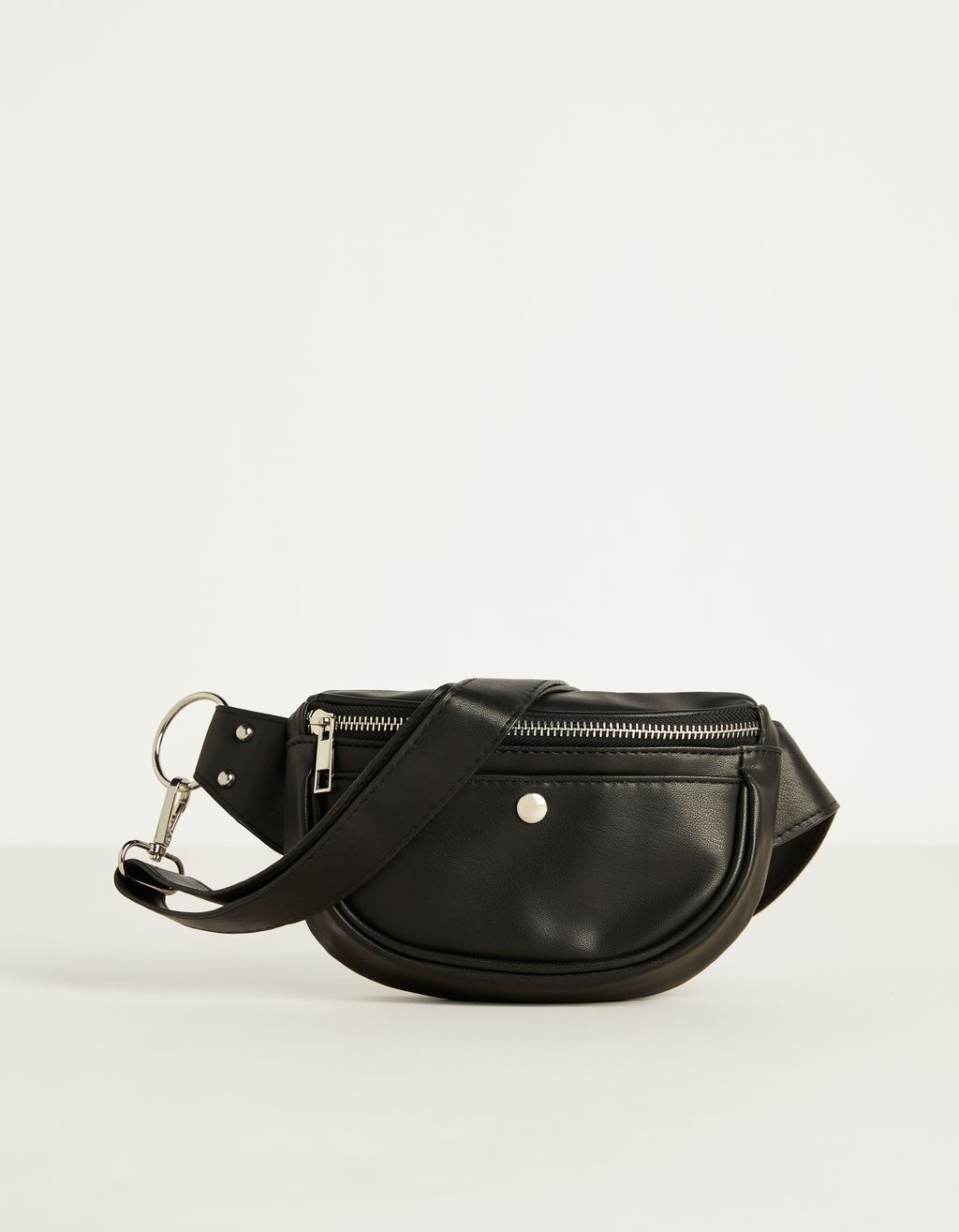 Faux leather pocket fanny pack