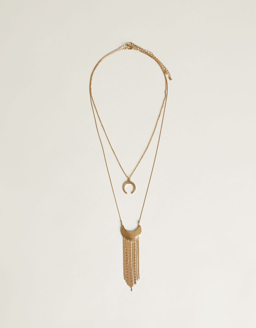 Necklace with moon and fringing