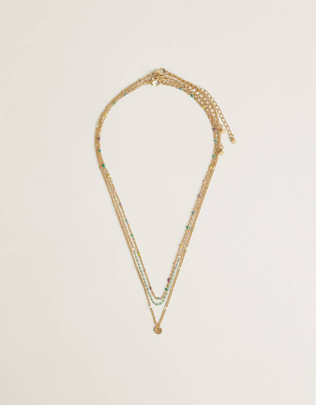 Multi-strand stone necklace