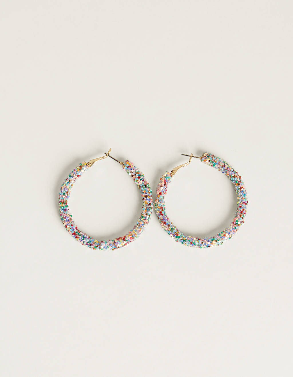 Maxi hoop earrings with rhinestones