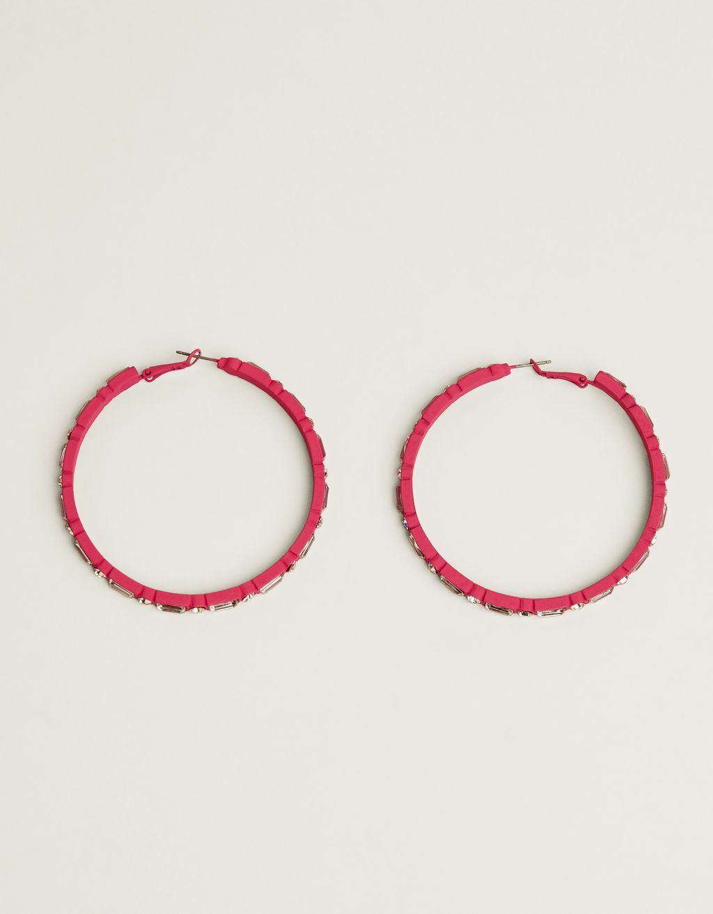 Neon hoop earrings with shiny detail