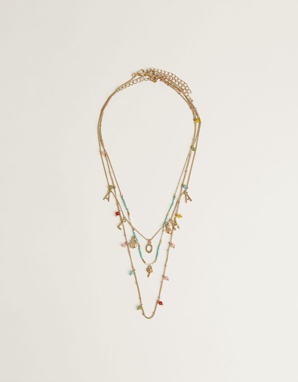 "Multi-strand ""ALOHA"" necklace"