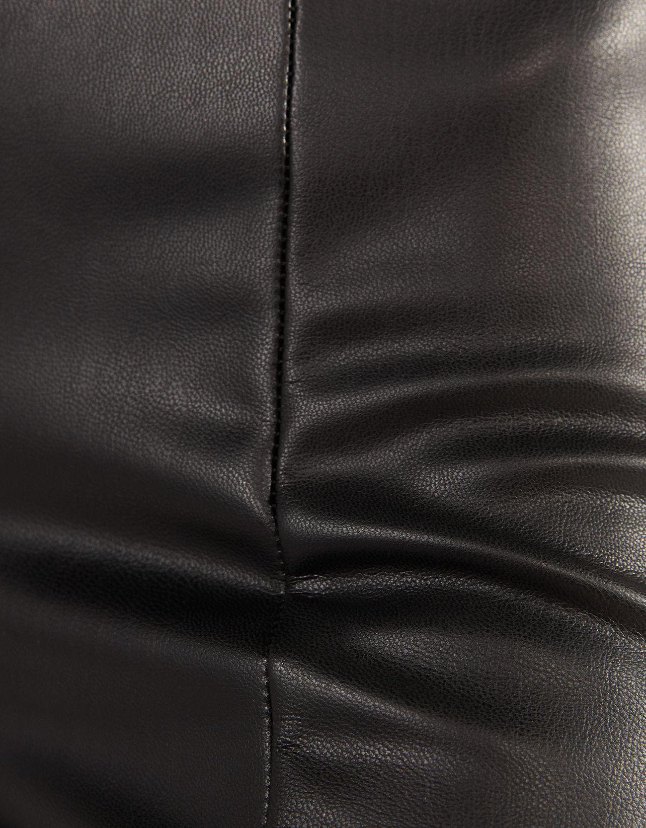 Брюки-леггинсы из искусственной кожи ЧЕРНЫЙ Bershka