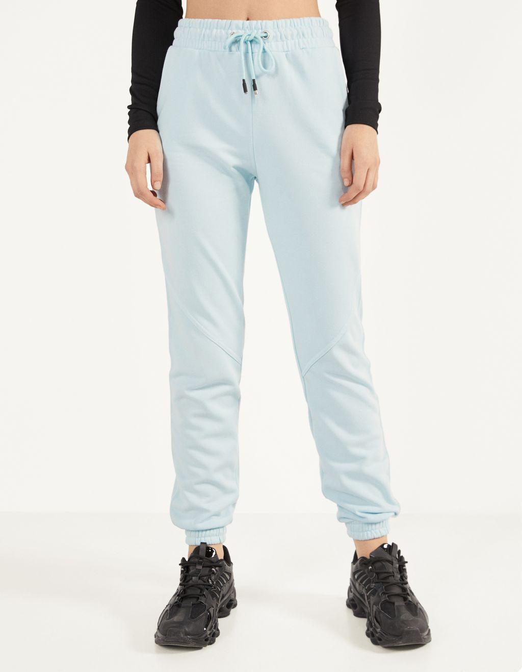 Plush jogging trousers