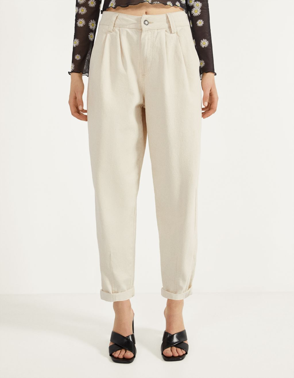 Darted harem trousers
