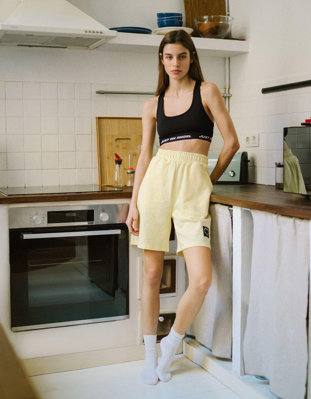 Velours shorts met print