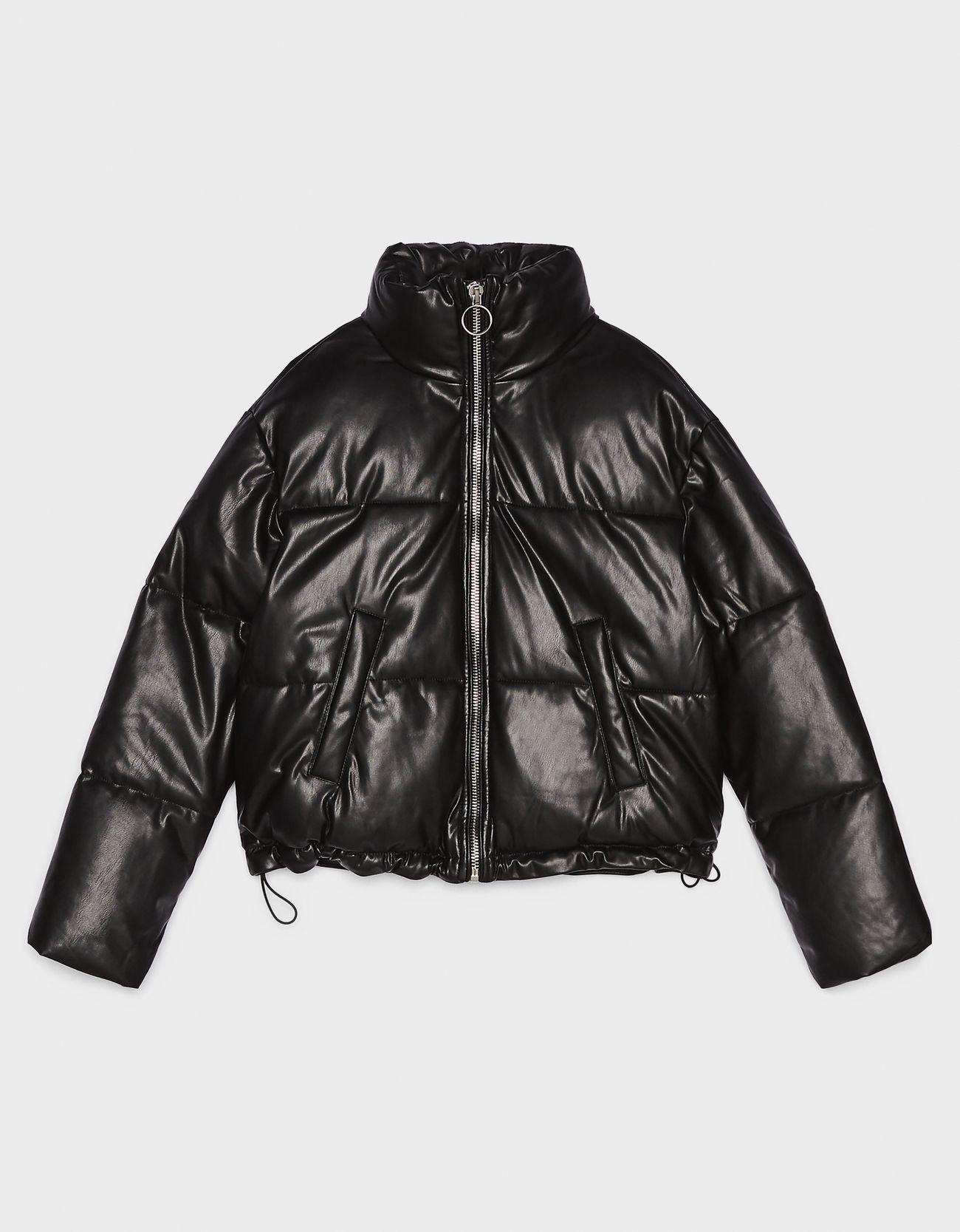 Куртка-пуховик ЧЕРНЫЙ Bershka