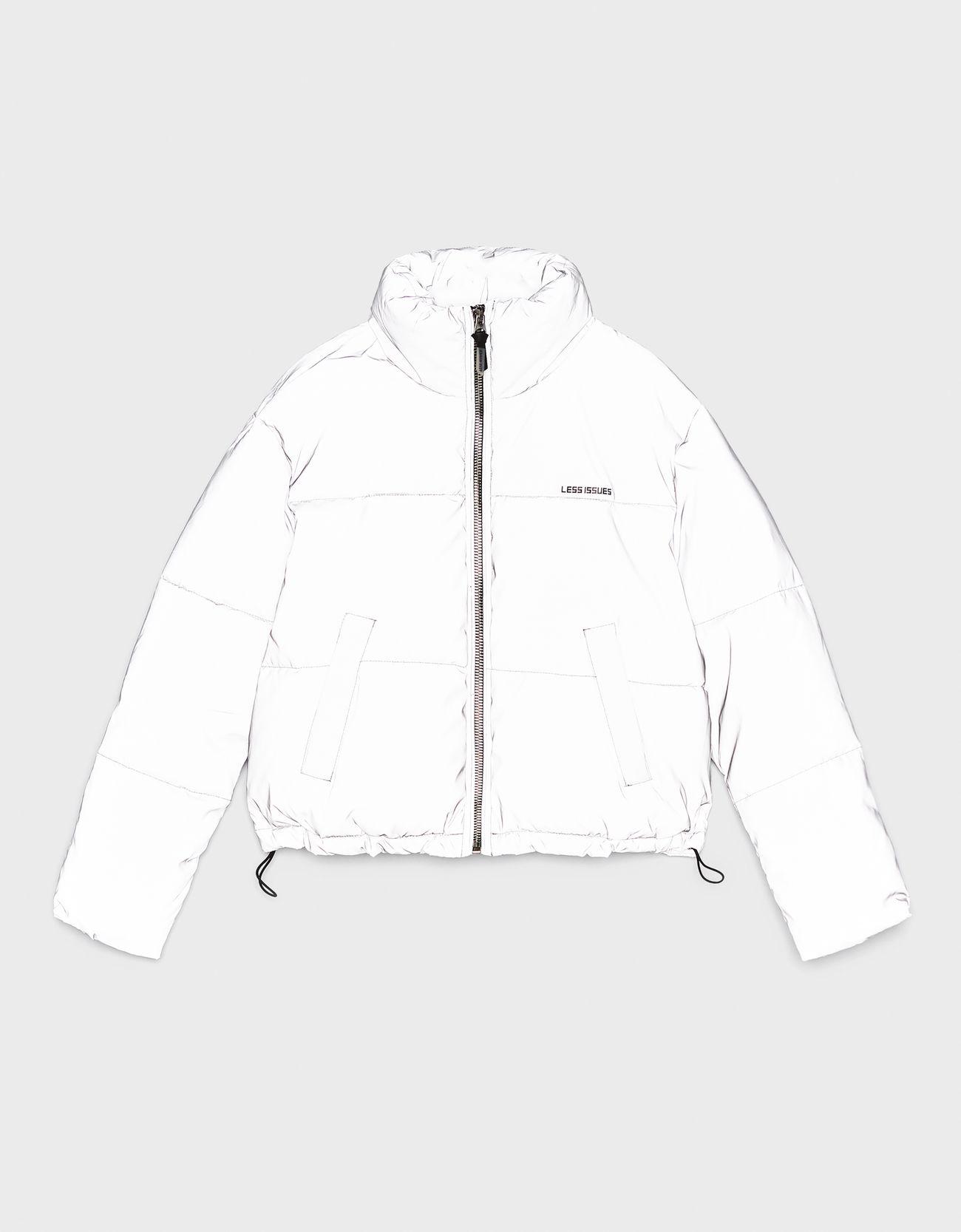 Куртка-пуховик Серебряный Bershka