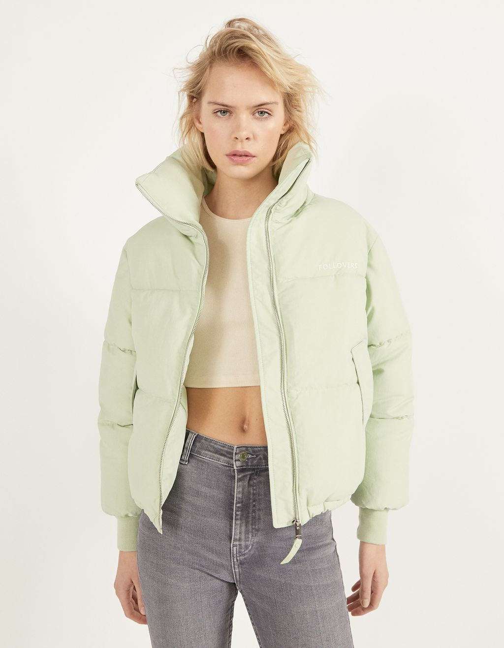 Pufferjacke aus Nylon