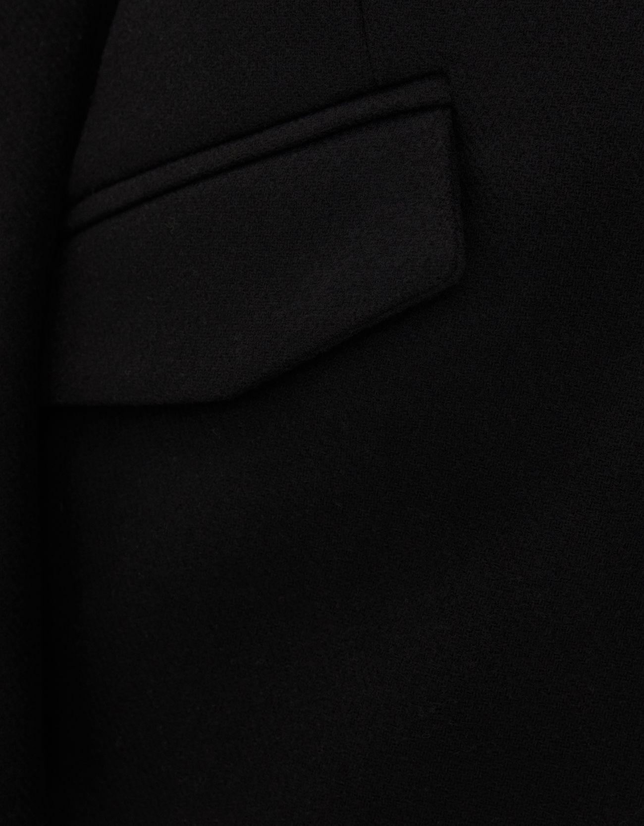 Шерстяное пальто с воротником-стойкой ЧЕРНЫЙ Bershka