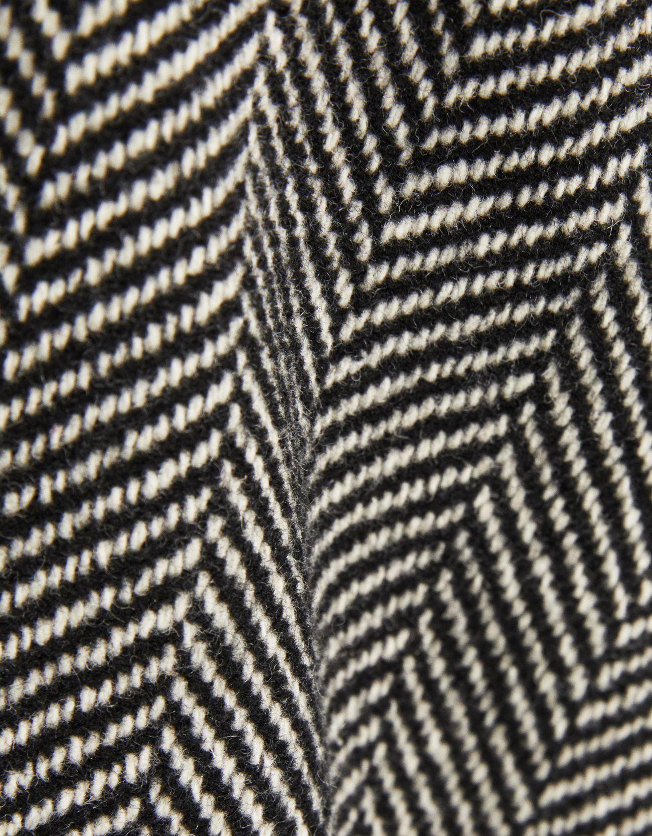 Шерстяное пальто ЧЕРНЫЙ Bershka