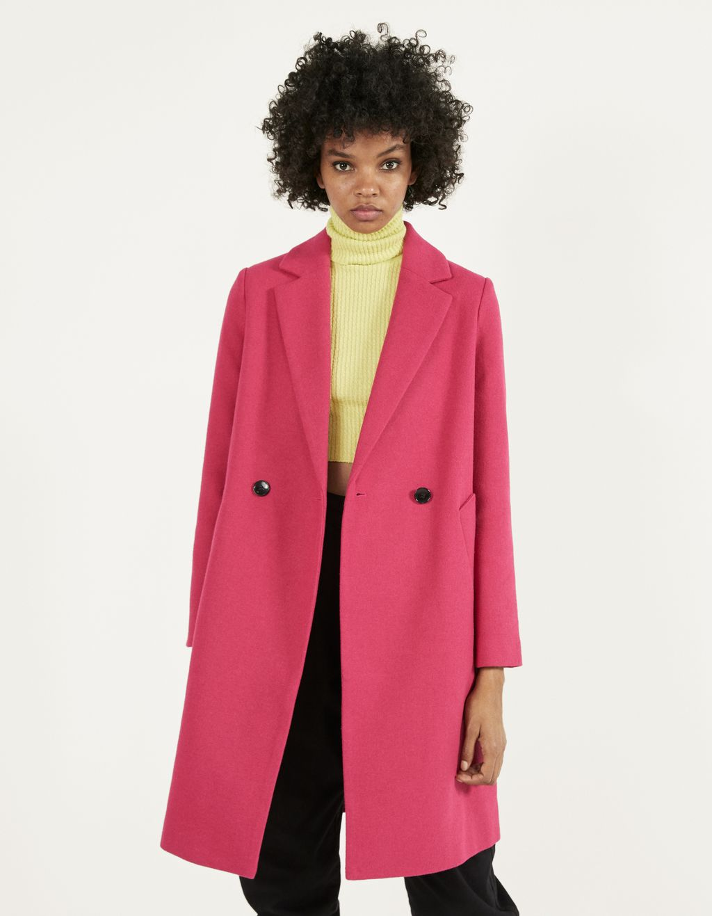 Wool coat with belt