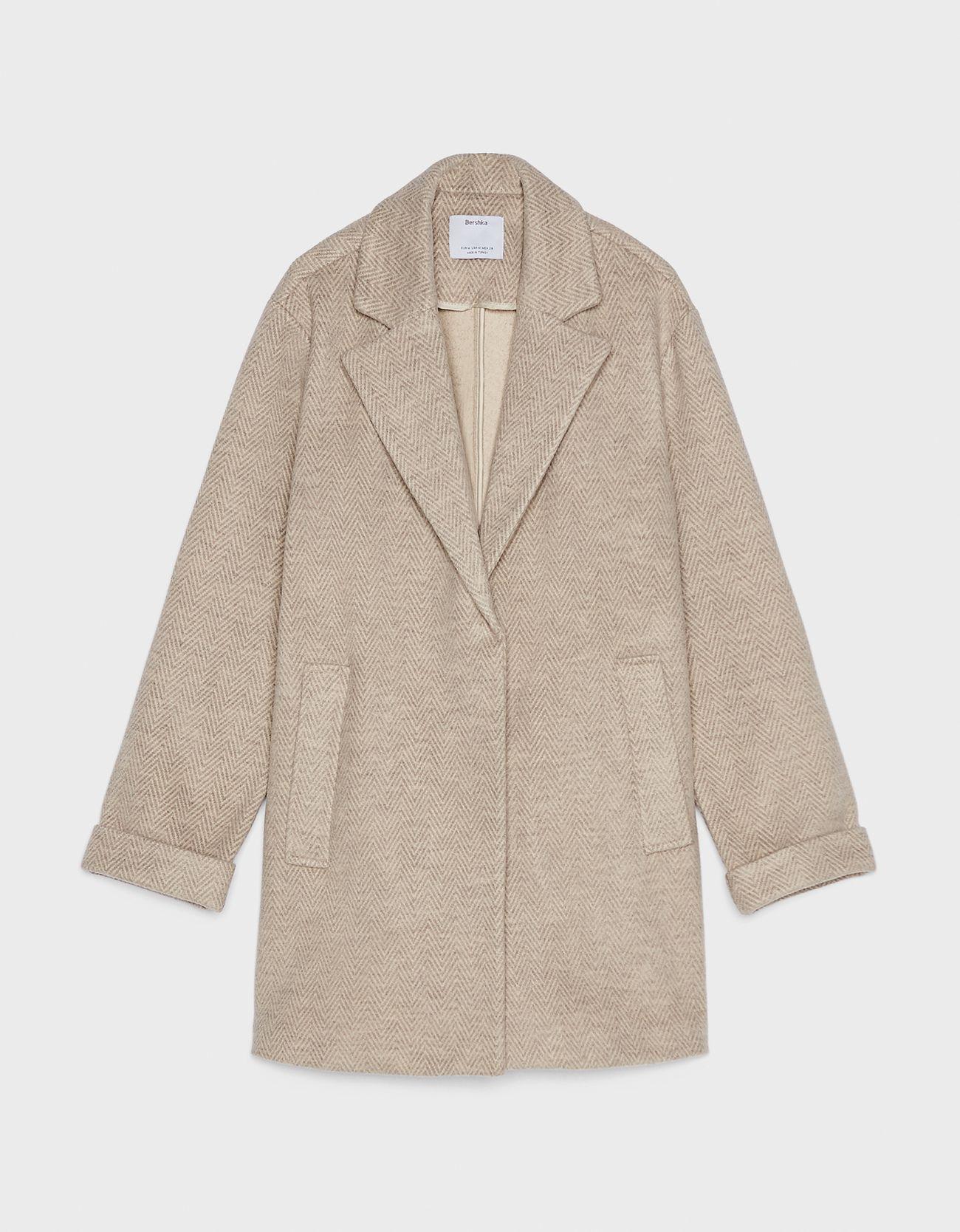 Пальто в мужском стиле Верблюжий Bershka