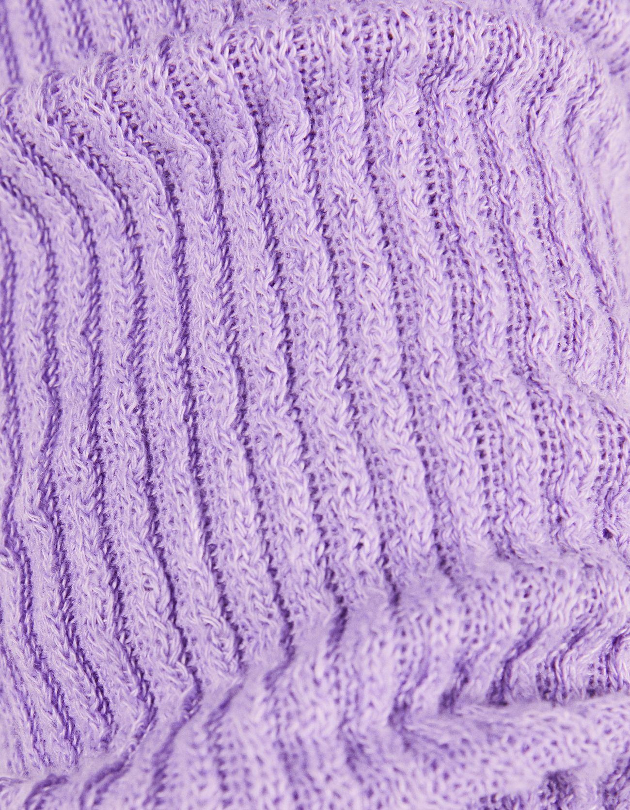 Укороченный топ с высоким горлом и длинными рукавами Фиолетовый Bershka