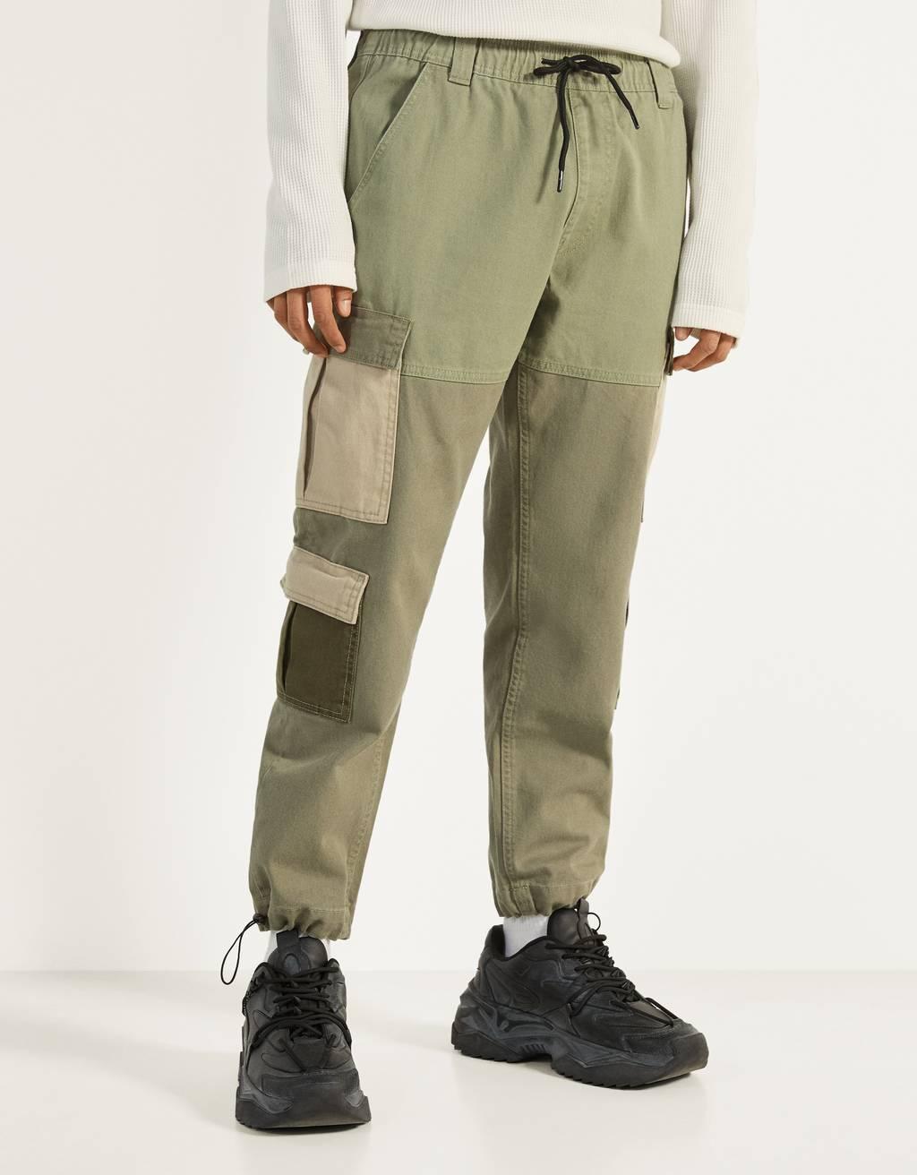 Pantalons de butxaques a contrast