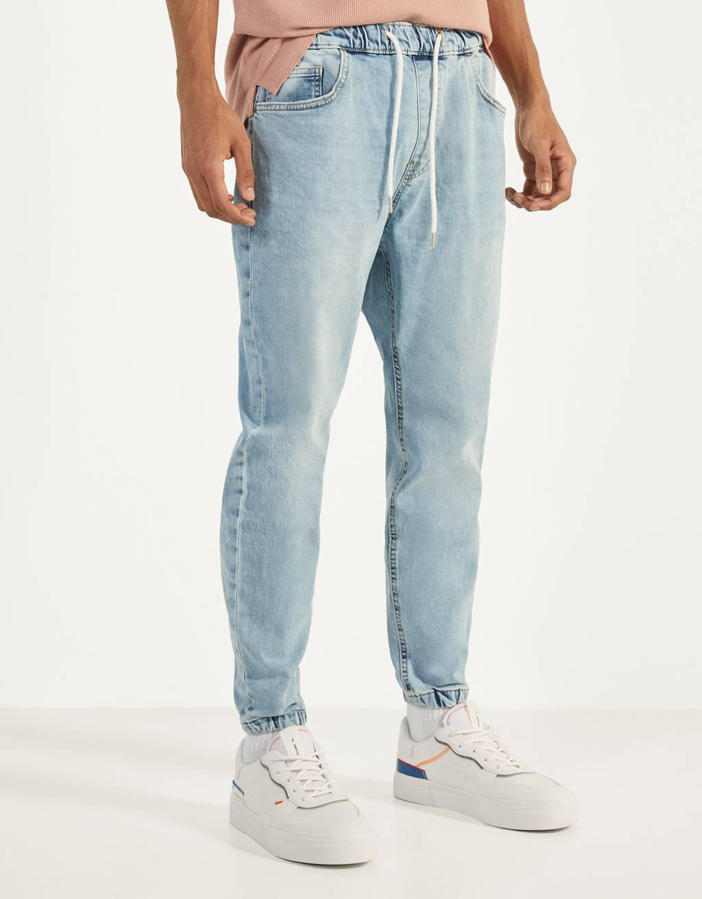 Denim joggingbroek