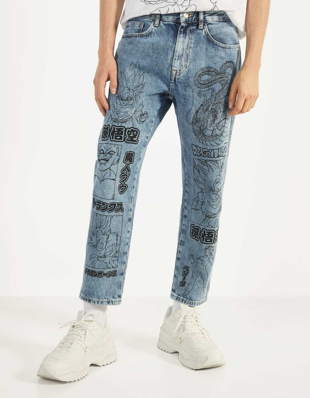 Dragon Ball Z x Bershka loose fit jeans