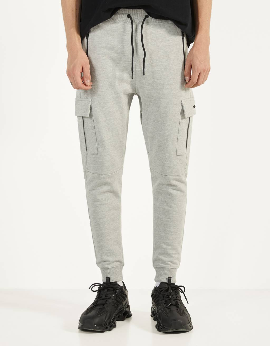 Plush cargo sweatpants