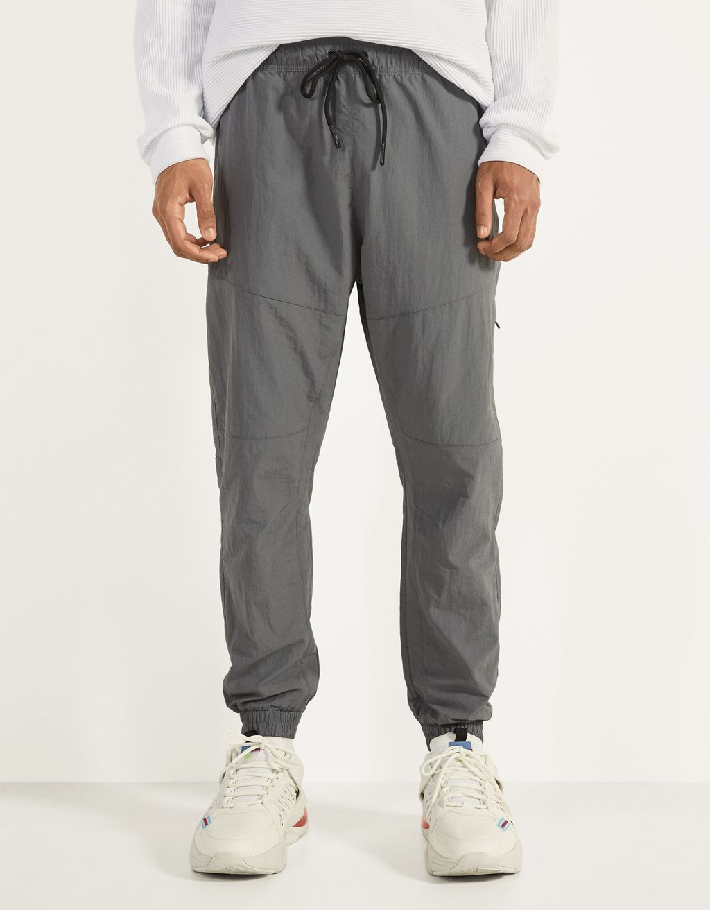 Nylon jogging trousers