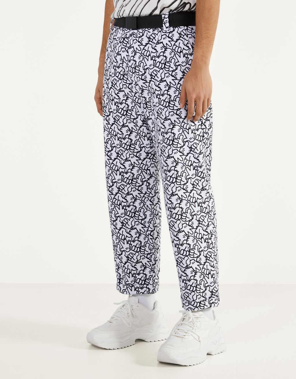 """""""Mickey gets arty"""" trousers"""