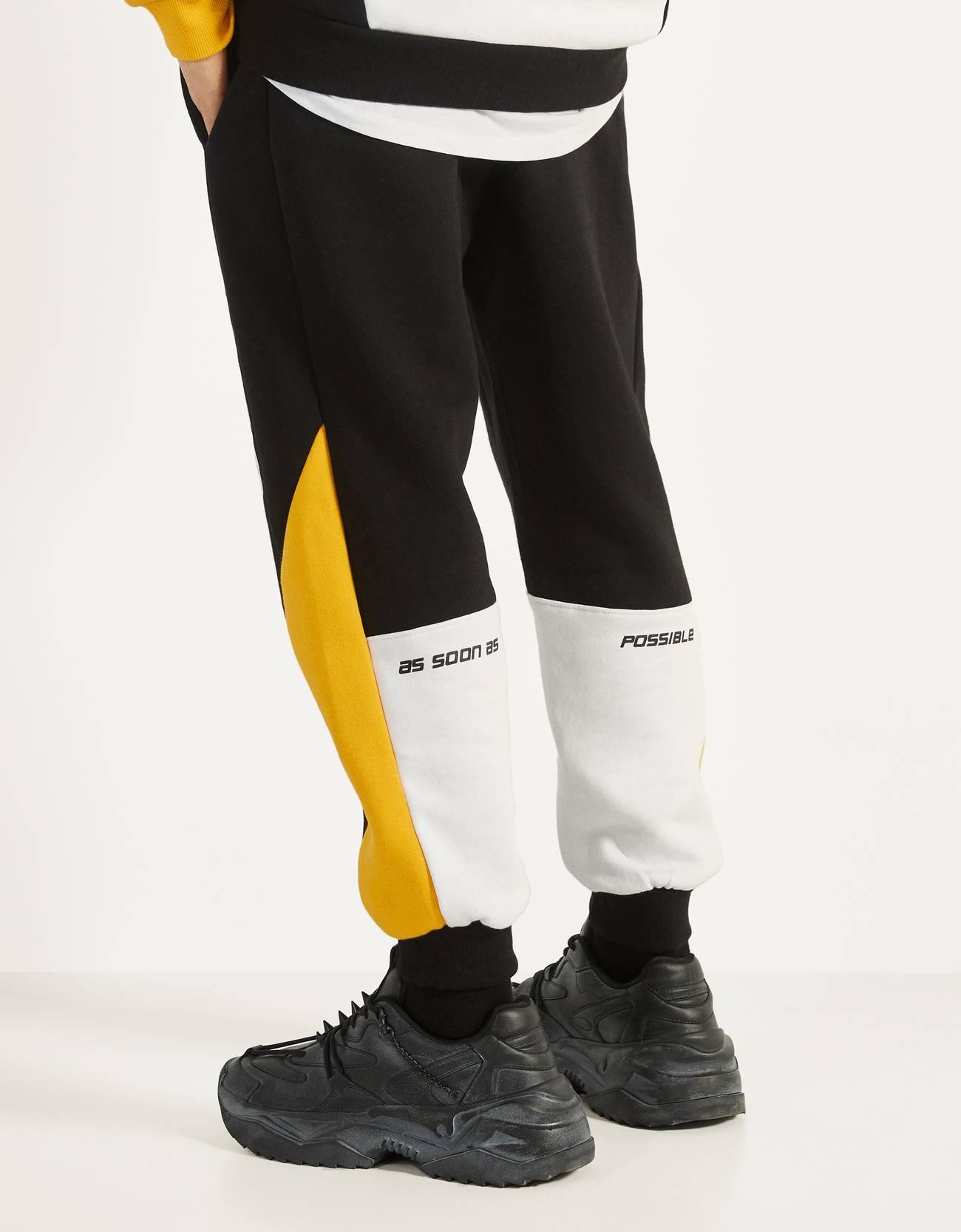 Plush printed joggers
