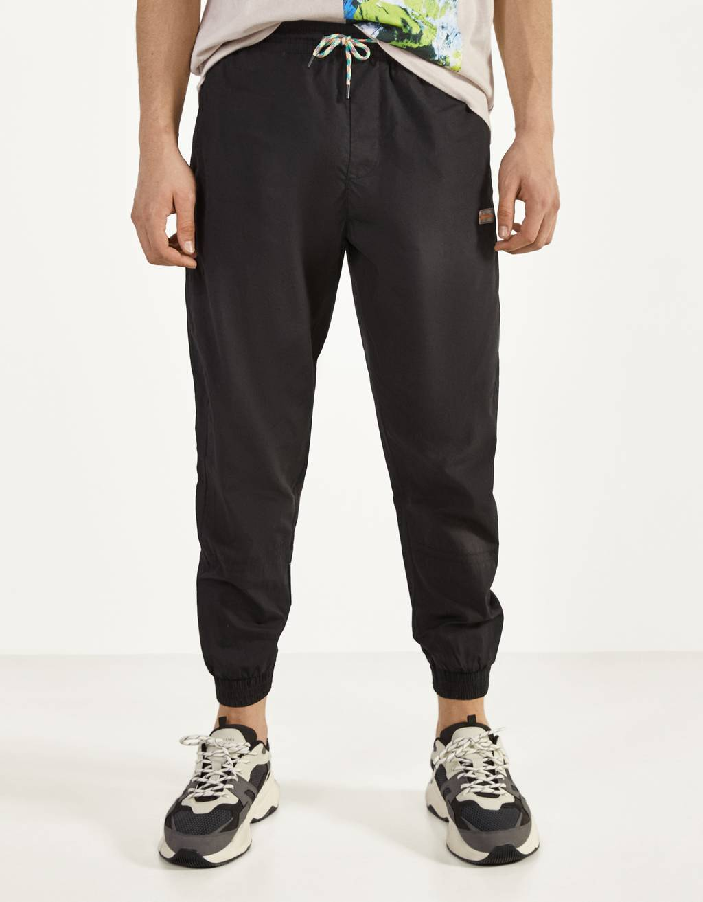 Poplin jogging trousers
